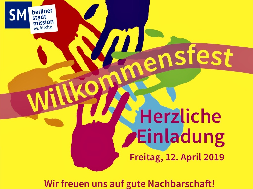Willkommensfest in der Unterkunft Senftenberger Ring, Freitag 12. April