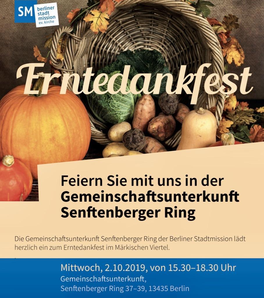 Erntedankfest in der Gemeinschaftsunterkunft am 2. Oktober